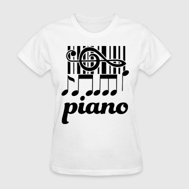 Piano Music Keyboard - Women's T-Shirt