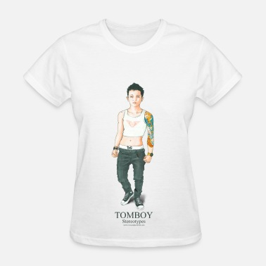 Tomboys Tomboy. Stereotypes Collection. - Women's T-Shirt