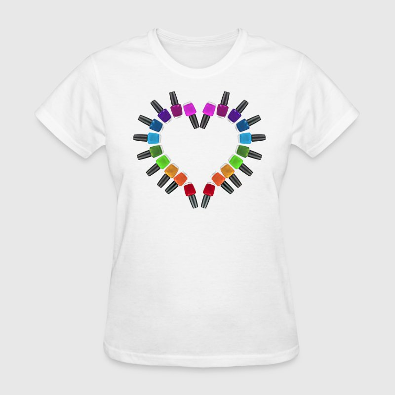 Nail Polish Heart - Women's T-Shirt