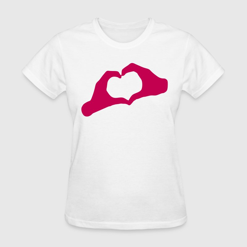 LOVE - Hands Heart - HEART - AMOUR - AMOR - HandHeart - Hands - Heart - Women's T-Shirt