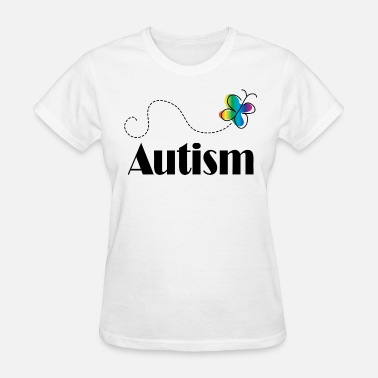 Autism Butterfly Autism Awareness Butterfly - Women's T-Shirt