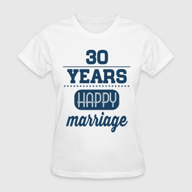 30 Years Happy Marriage - Women's T-Shirt