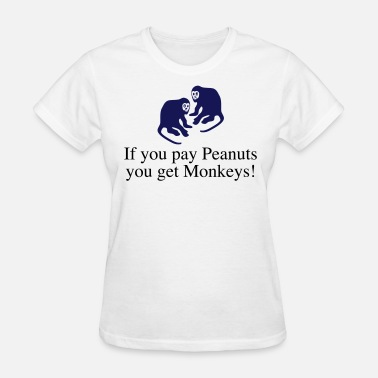 Monkeys Monkey Peanuts get_monkeys - Women's T-Shirt