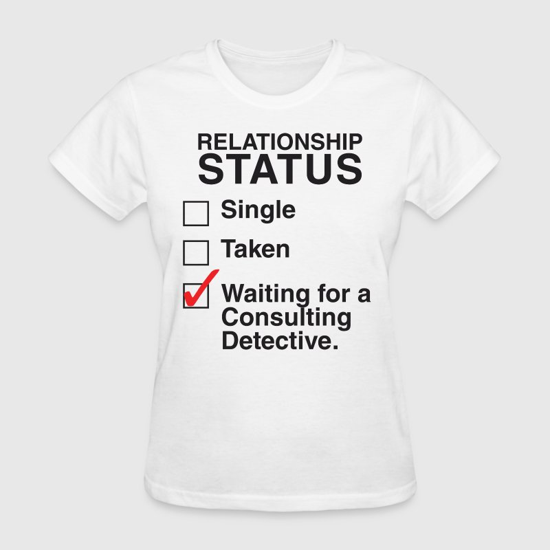 Waiting for a Consulting Detective - Women's T-Shirt