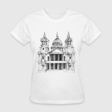 Cathedral sketch (St Pauls) - Women's T-Shirt