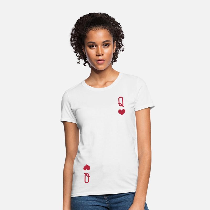 0bb3b77ac QUEEN OF HEARTS ALICE IN WONDERLAND Women's T-Shirt   Spreadshirt
