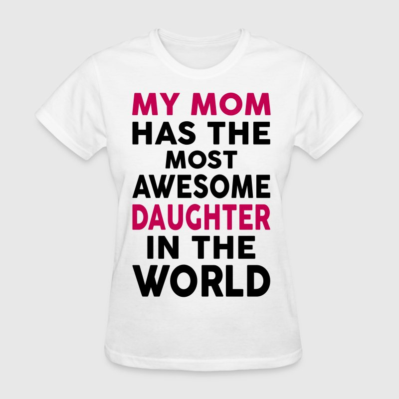My Mom Has The Most Awesome Daughter In The World - Women's T-Shirt