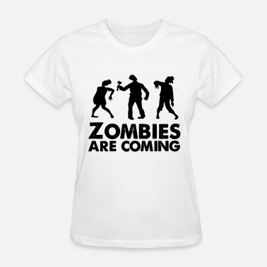 Latin Saying Sayings Quote Quotes zombies are coming - Women's T-Shirt