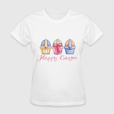 Happy Easter Baskets Of Eggs - Women's T-Shirt