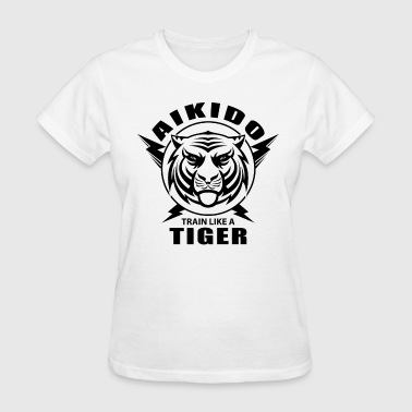 Aikido Shirt Tiger MMA Training Judo Karate Shodokan T Shirt - Women's T-Shirt