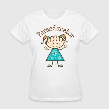 Paraeducator Stick Figure - Women's T-Shirt