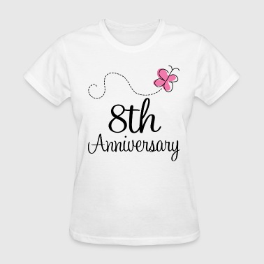 8th Wedding Anniversary Butterfly - Women's T-Shirt
