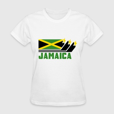 Jamaica Design with Flag - Women's T-Shirt