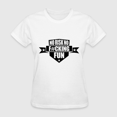 Emblems Cool Sayings area shield emblem star banner design fucking spon - Women's T-Shirt