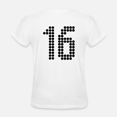 Jersey Number 16, Numbers, Football Numbers, Jersey Numbers - Women's T-Shirt