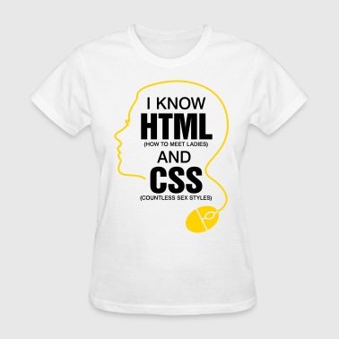 I Know Html 3 (2c)++ - Women's T-Shirt
