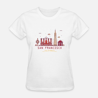 Bay Area California San Francisco SF Bay Area California Skyline - Women's T-Shirt