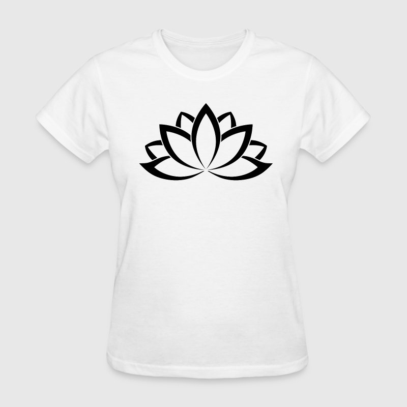 Original Black White Buddhist Symbol Lotus flower by dimkadnb ...