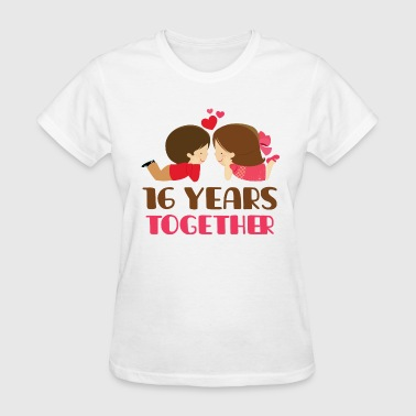 16th Anniversary 16 Years Together - Women's T-Shirt