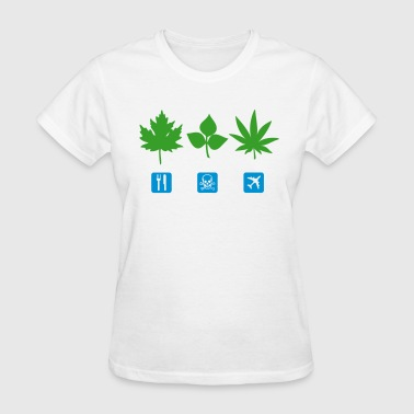Weed Symbols & Shapes Know Your Weeds - Eat, Poison, High - Women's T-Shirt