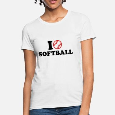 Girls Softball Softball - Women's T-Shirt
