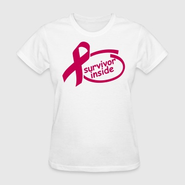 Breast Cancer Research survivor_inside__solid_colour - Women's T-Shirt