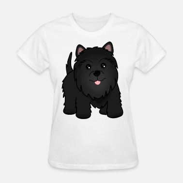 Scottish Terrier Puppy Cute Little Black Scottish Terrier Puppy Dog - Women's T-Shirt