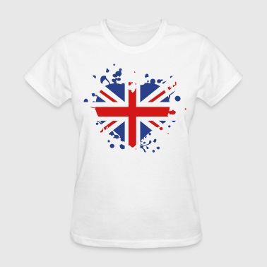 flag heart English British England london olympic games olympics - Women's T-Shirt