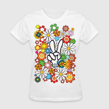 Flower Power USA - Women's T-Shirt
