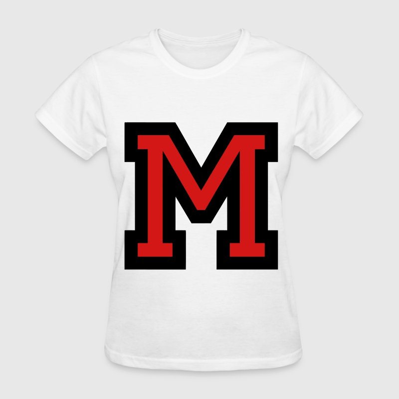Letter M Filled - Women's T-Shirt