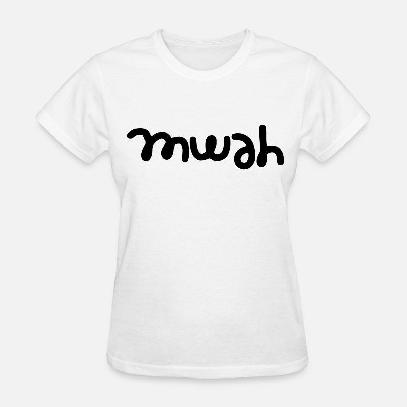 Boy T-Shirts - Mwah - Women's T-Shirt white