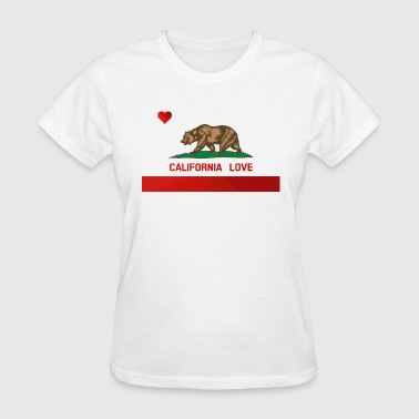 California Love State Flag - Women's T-Shirt