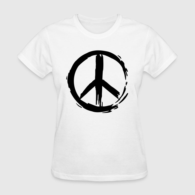 Painted Peace Symbol By Gladditudes Spreadshirt