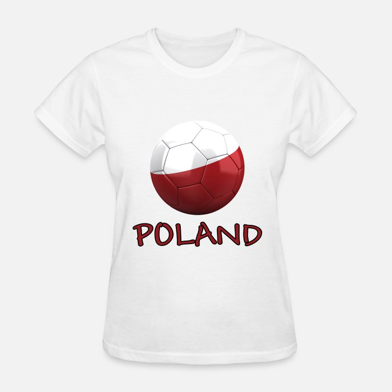 2014 T-Shirts - Team Poland FIFA World Cup - Women's T-Shirt white