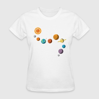 Funny Solar System - Planets Stars Space - Humor - Women's T-Shirt