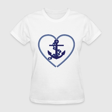 nautical heart - Women's T-Shirt