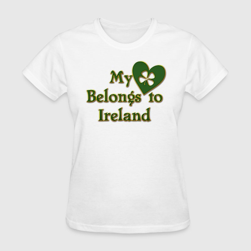 Irish My Heart Belongs To Ireland - Women's T-Shirt