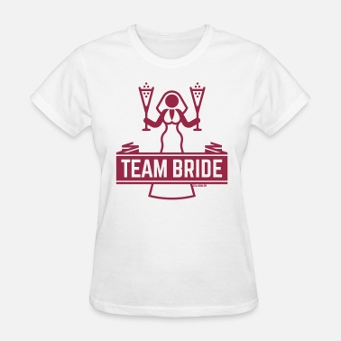 Friend Of The Bride Team Bride Champagne, Hen Night Bachelorette Party - Women's T-Shirt