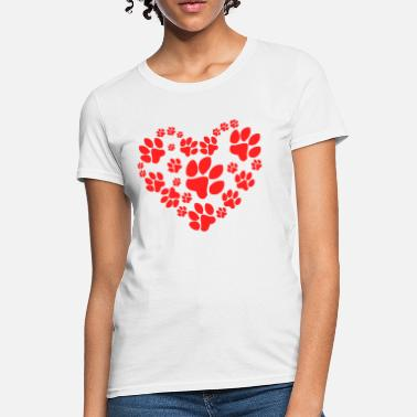Animaux Paws Heart - T-shirt Femme