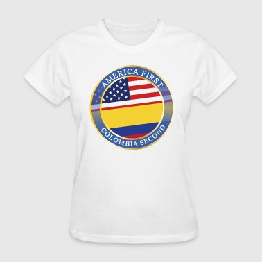 AMERICA FIRST COLOMBIA SECOND - Women's T-Shirt