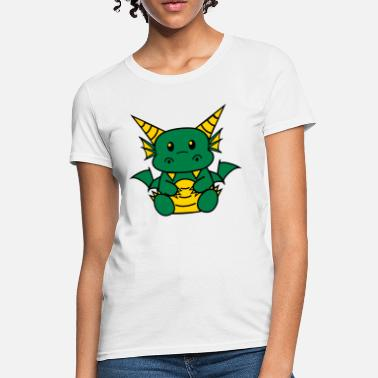 White Chibi Dragon Women's T-Shirts - Women's T-Shirt