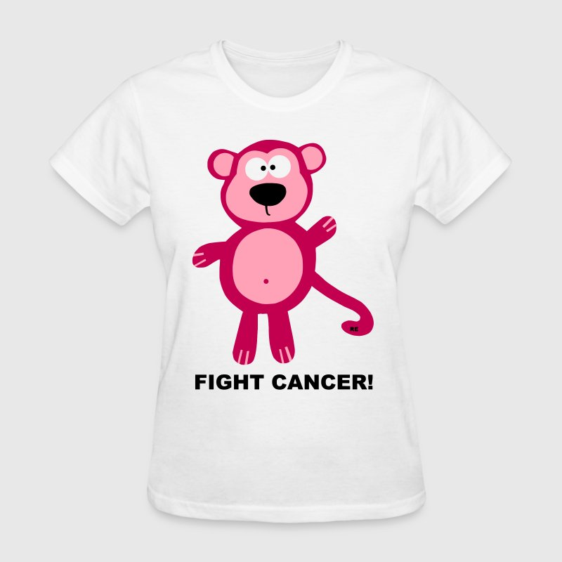 Fuck Cancer Fight Cancer Monkey Ape Cute Cool - Women's T-Shirt