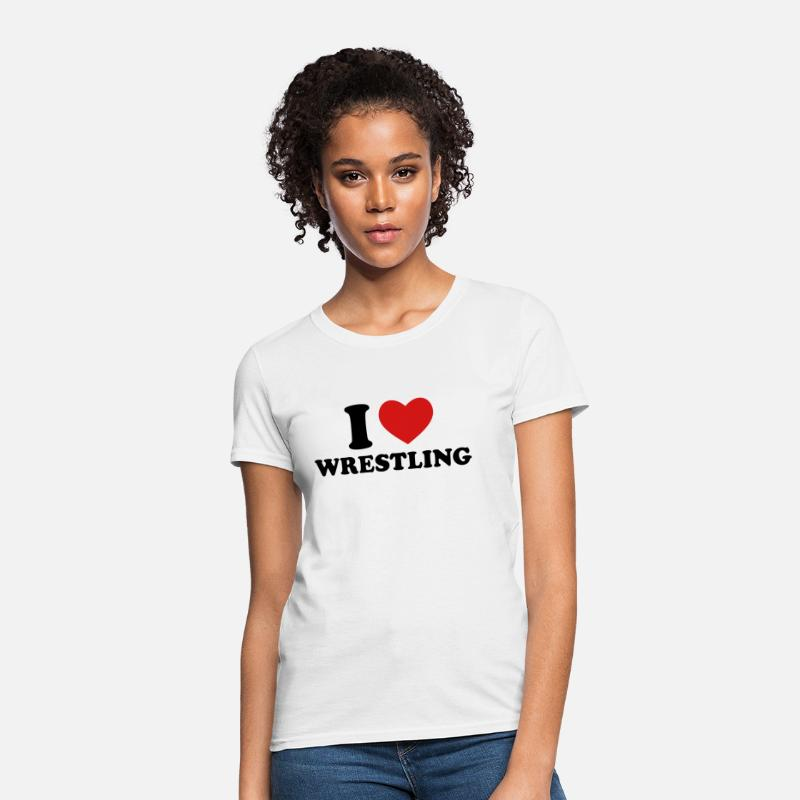 I Love Wrestling T-Shirts - I Love Wrestling - Women's T-Shirt white