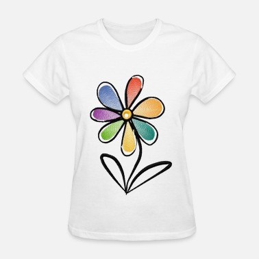 Multi Colored Multi-Color Flower (2) - Women's T-Shirt