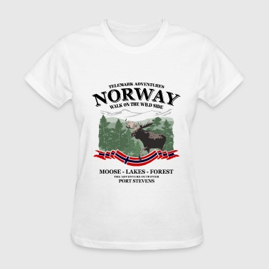 Norwegian Designs Norway moose - Women's T-Shirt