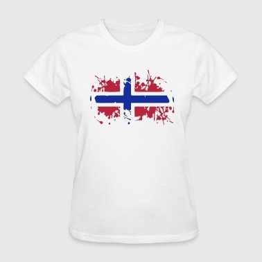 Norwegian Designs Norway Painted Flag - Women's T-Shirt