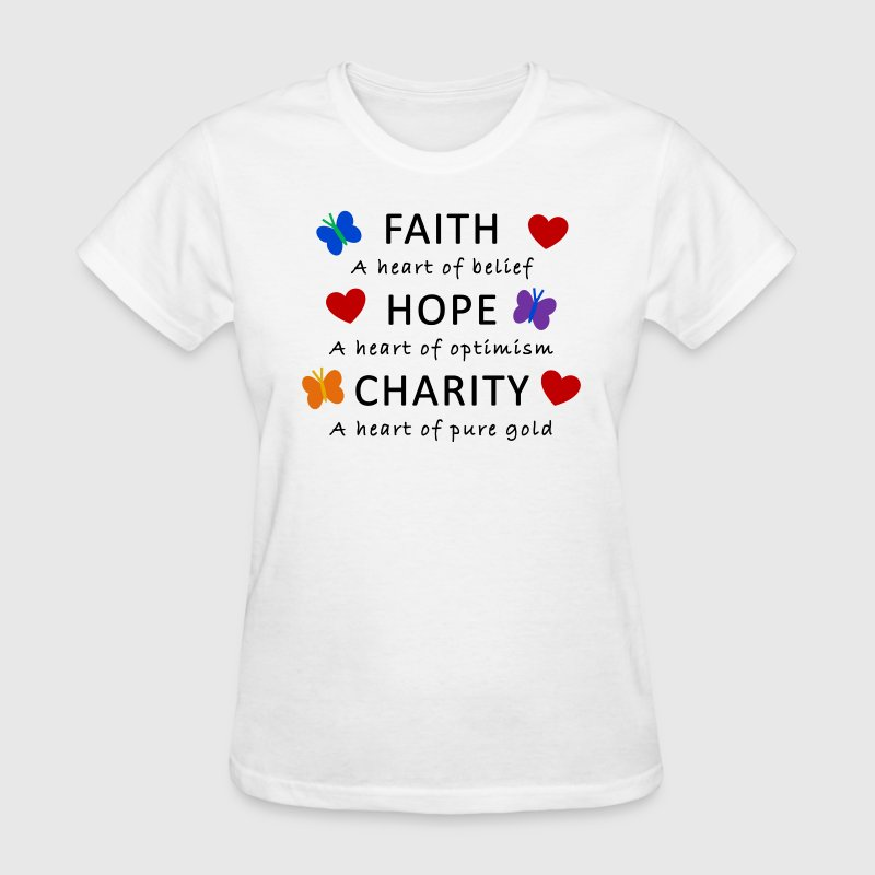 Faith hope charity by royalheaven spreadshirt for Sell t shirts for charity