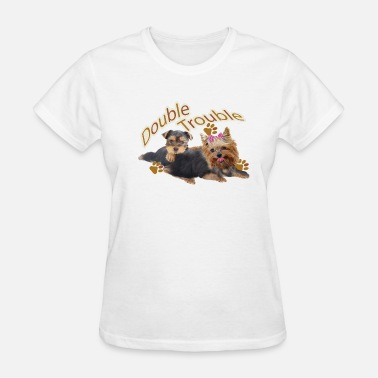 Yorkie Yorkie Double Trouble  Apparel - Women's T-Shirt
