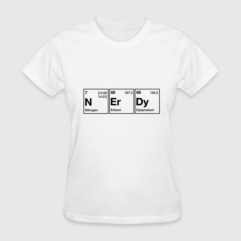 Nerdy periodic table word by chemicalshirts spreadshirt nerdy periodic table word womens t shirt urtaz Gallery