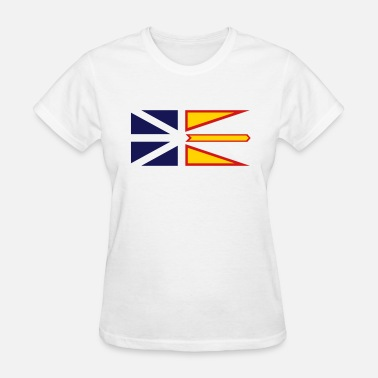 Newfoundland & Labrador Flag of Newfoundland and Labrador, Canada. - Women's T-Shirt